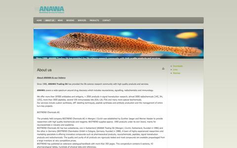 Screenshot of About Page anawa.ch - ANAWA - About us - captured Feb. 5, 2016