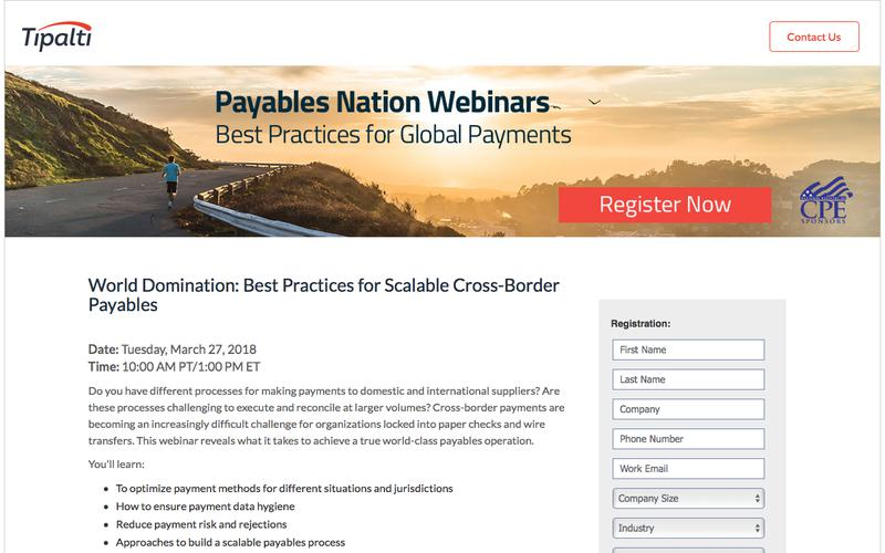World Domination: Best Practices for Scalable Cross-Border Payables