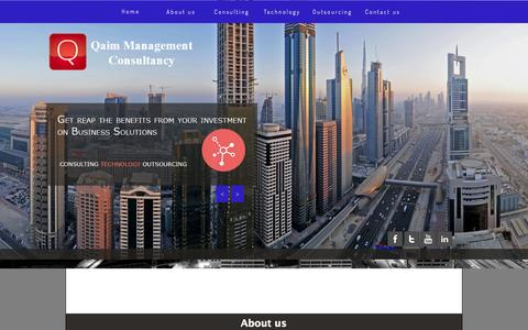 Screenshot of Home Page qaimglobal.com - Qaim Management Consultancy - captured Oct. 1, 2014