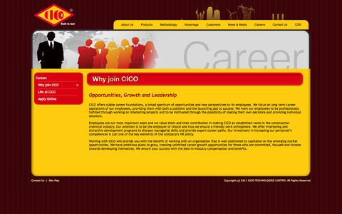Screenshot of Jobs Page cicogroup.com - CICO  --  Built to last - captured Oct. 1, 2014