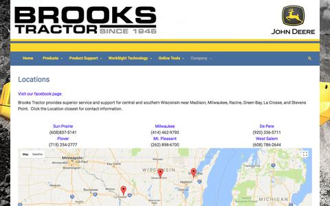 Screenshot of Locations Page brookstractor.com - Locations – Brooks Tractor Inc - captured June 3, 2017