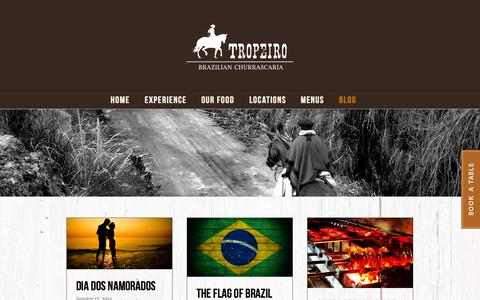 Screenshot of Blog tropeiro.co.uk - Tropeiro Blog - Brazilian Restaurant - captured Oct. 9, 2014