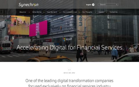 Screenshot of About Page synechron.com - About Us   Synechron - captured Feb. 16, 2019