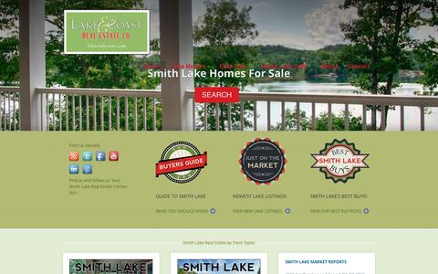 Screenshot of Home Page smithlakehouse.com - Smith Lake Alabama Real Estate | Lewis Smith Lake Homes For Sale | Contact Trent Taylor your Smith Lake Real Estate Connection - captured Jan. 22, 2016
