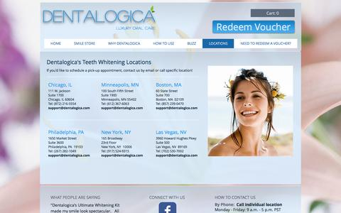 Screenshot of Locations Page dentalogica.com - Dentalogica Luxury Oral Care | LOCATIONS - captured June 4, 2017