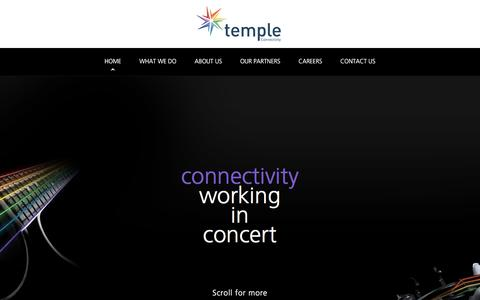 Screenshot of Home Page temple.ie - Home - Temple - captured June 19, 2017