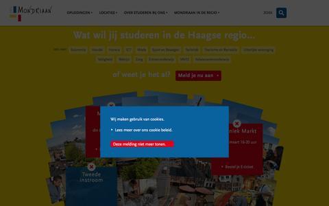 Screenshot of Home Page rocmondriaan.nl - ROC Mondriaan | ROC Mondriaan - captured Feb. 22, 2016
