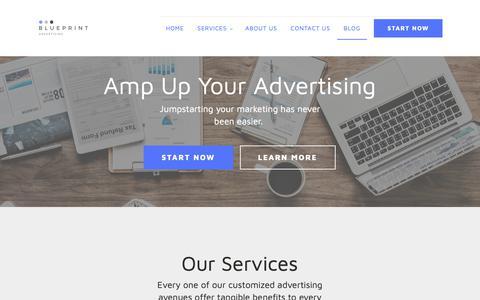 Screenshot of Blog blueprintadvertising.com - Blog - Blueprint Advertising - captured Nov. 6, 2018