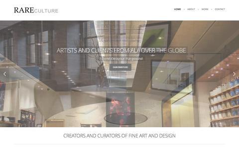 Screenshot of Home Page rareculture.com - RAREculture - Home - captured Jan. 10, 2016