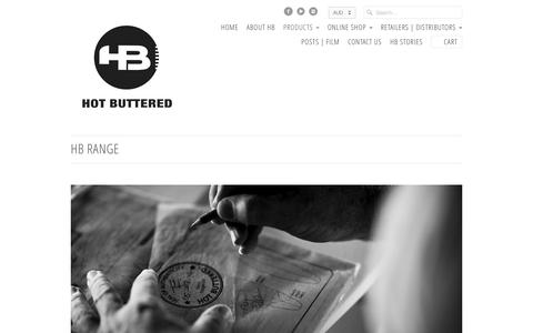 Screenshot of Products Page hotbuttered.com - HB Range                           | Hot Buttered Surfboards - captured Aug. 31, 2016