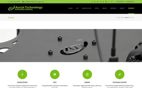 Screenshot of Contact Page aerialtechnology.com - Contact - captured Feb. 5, 2016