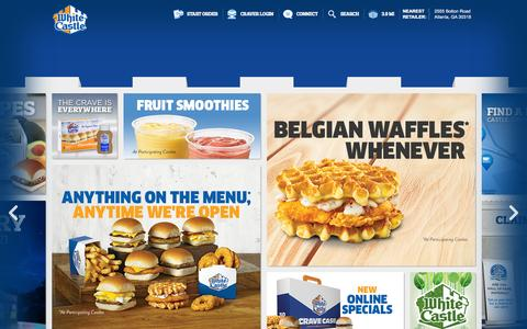 Screenshot of Home Page whitecastle.com - WhiteCastle - captured Oct. 1, 2015