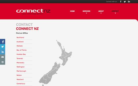 Screenshot of Contact Page connectnz.co.nz - Contact Us | Connect NZ - captured Sept. 30, 2014
