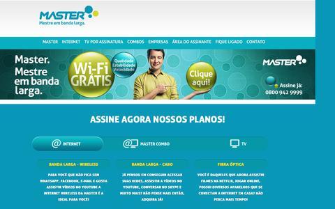 Screenshot of Home Page mastercabo.com.br - MASTER – Tv por assinatura e Internet Banda Larga - captured Sept. 2, 2016