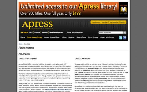 Screenshot of About Page apress.com - About  Us - captured Sept. 18, 2014
