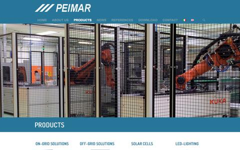 Screenshot of Products Page peimar.com - Peimar |   Products - captured Oct. 27, 2014
