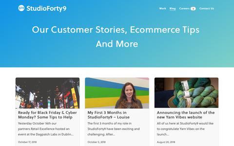 Screenshot of Blog studioforty9.com - Blog - StudioForty9 - Award Winning Digital Commerce - captured Oct. 20, 2018