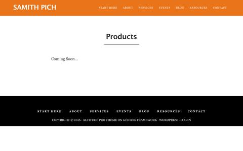 Screenshot of Products Page samithpich.com - Products - Samith Pich - captured Nov. 22, 2016