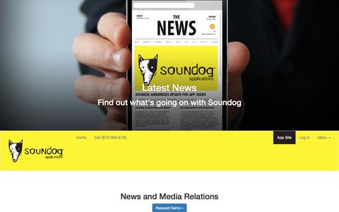 Screenshot of Press Page mysoundog.com - Soundog | Get the Latest on News and Events - captured Dec. 1, 2016