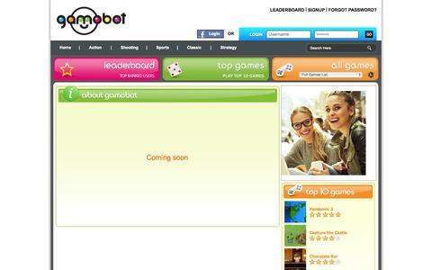 Screenshot of About Page gamobot.com - Gamobot - aboutus - captured Nov. 2, 2014
