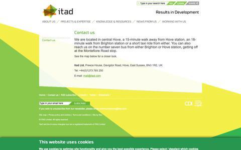 Screenshot of Contact Page itad.com - Contact us - Itad - captured Nov. 6, 2018