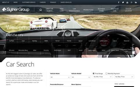Screenshot of Home Page sytner.co.uk - Car Dealership | Sytner Group - captured Oct. 22, 2015