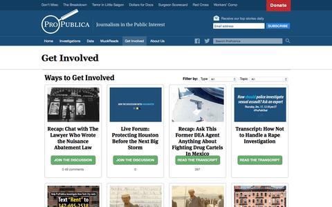 Get Involved - ProPublica