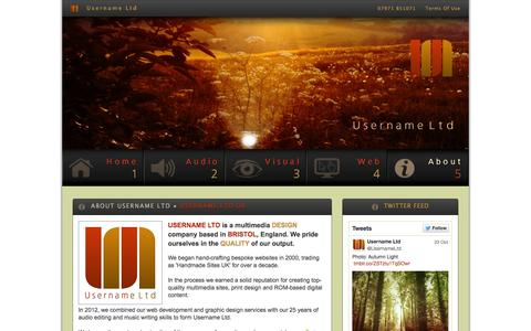 Screenshot of About Page Press Page username.ltd.uk - Username Ltd - News, contact details, company background and services - captured Oct. 25, 2014