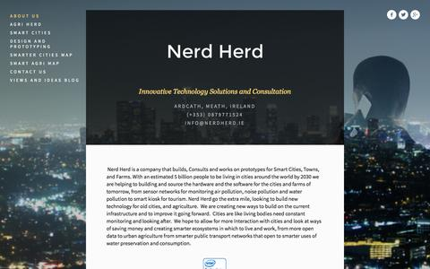 Screenshot of Home Page About Page nerdherd.ie - Nerd Herd - captured Oct. 7, 2014
