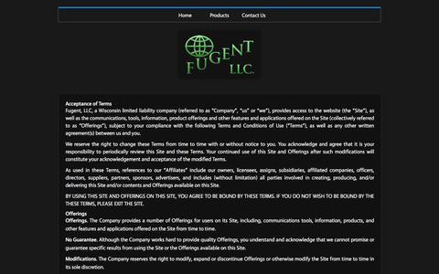Screenshot of Terms Page fugentllc.com - FUGENT, LLC TERMS OF USE - Fugent LLC Fugent LLC - captured Jan. 8, 2016