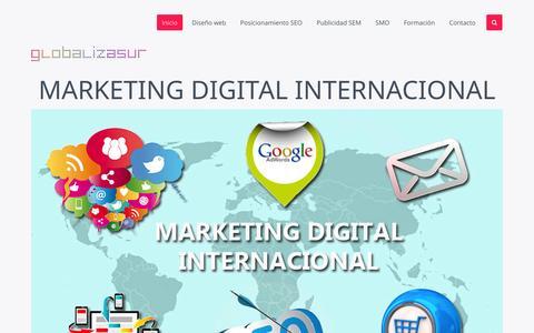 Screenshot of Home Page globalizasur.com - Inicio - captured Jan. 26, 2015