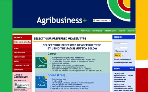 Screenshot of Signup Page site-ym.com - Agribusiness Council of Australia Ltd - captured Nov. 2, 2014