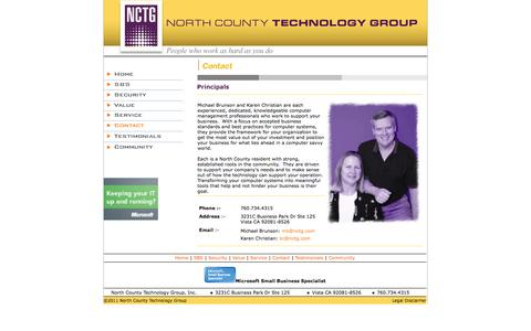 Screenshot of Contact Page nctg.com - North County Technology Group - Contact - captured Oct. 7, 2014