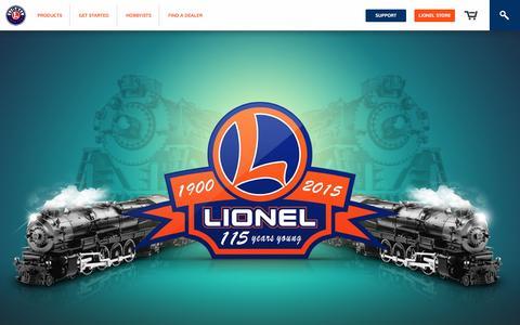 Screenshot of Home Page lionel.com - Home | Lionel - captured Oct. 1, 2015
