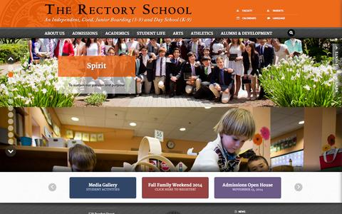 Screenshot of Home Page rectoryschool.org - The Rectory School  Home - captured Oct. 6, 2014