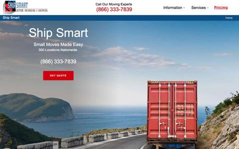 Screenshot of Home Page shipsmart.com - Furniture Shipping & Small Moves Company - captured Oct. 27, 2017
