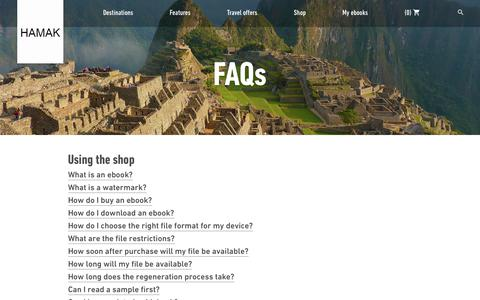 Screenshot of FAQ Page hamak.info - FAQs | Rough Guides - hamak.info - captured July 11, 2017
