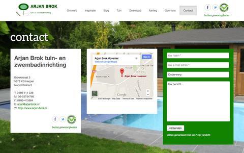 Screenshot of Contact Page arjan-brok.nl - Contact | Arjan Brok - captured Oct. 4, 2014