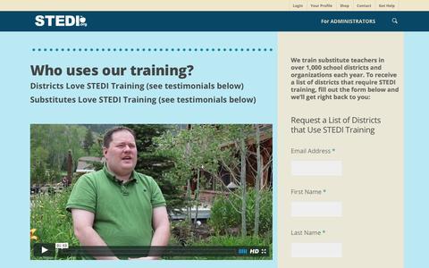 Screenshot of Testimonials Page stedi.org - Testimonials - STEDI.org, Substitute Teaching Division - captured Nov. 14, 2016
