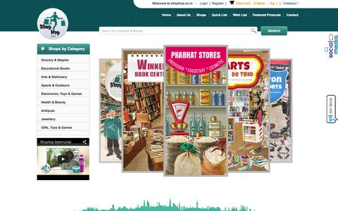Screenshot of Home Page shophop.co.in - Welcome to Shophop.co.in - captured Sept. 23, 2014