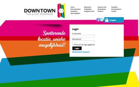 Screenshot of Login Page downtowntilburg.nl - Login-Downtown Tilburg - captured Sept. 30, 2014