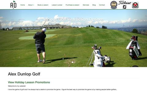 Screenshot of Home Page alexdunlopgolf.com - Seattle PGA Golf Professional - Alex Dunlop, PGA | Golf Lessons - captured Feb. 6, 2016