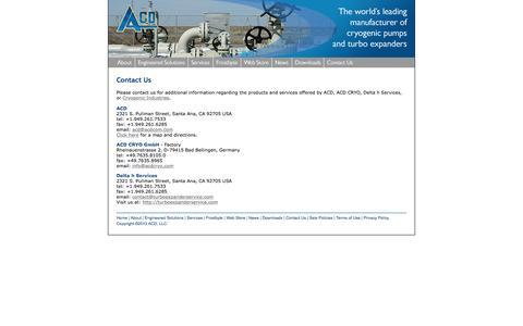 Screenshot of Contact Page acdcom.com - ACD - captured Feb. 4, 2016