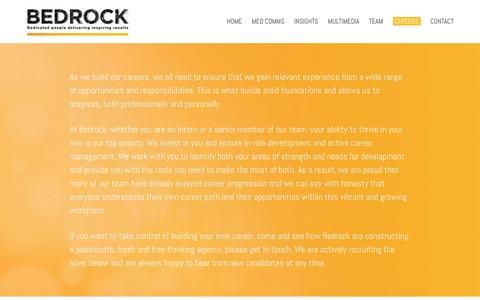 Screenshot of Jobs Page bedrock-health.com - Careers at Bedrock - captured Jan. 22, 2016