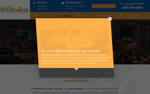 Screenshot of Services Page citrusbirmingham.com - | CitruSolution of Birmingham | (205) 509-5519 - captured Aug. 21, 2018