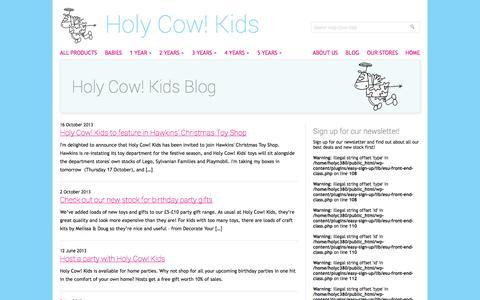 Screenshot of Blog holycowkids.biz - Holy Cow! Kids Blog   Holy Cow! Kids - captured Sept. 30, 2014