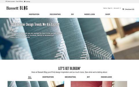 Screenshot of Blog bassettfurniture.com - Bassett Furniture                          » Blog - captured Jan. 18, 2019