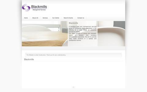 Screenshot of Home Page blackmills.com - Blackmills - captured Oct. 5, 2014