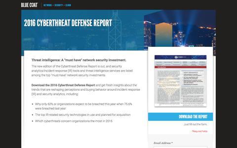 Screenshot of Landing Page bluecoat.com - Blue Coat - captured Aug. 31, 2017