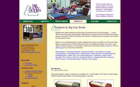 Screenshot of Products Page bigcozybooks.com - Big Cozy Books | Products - captured Sept. 30, 2014